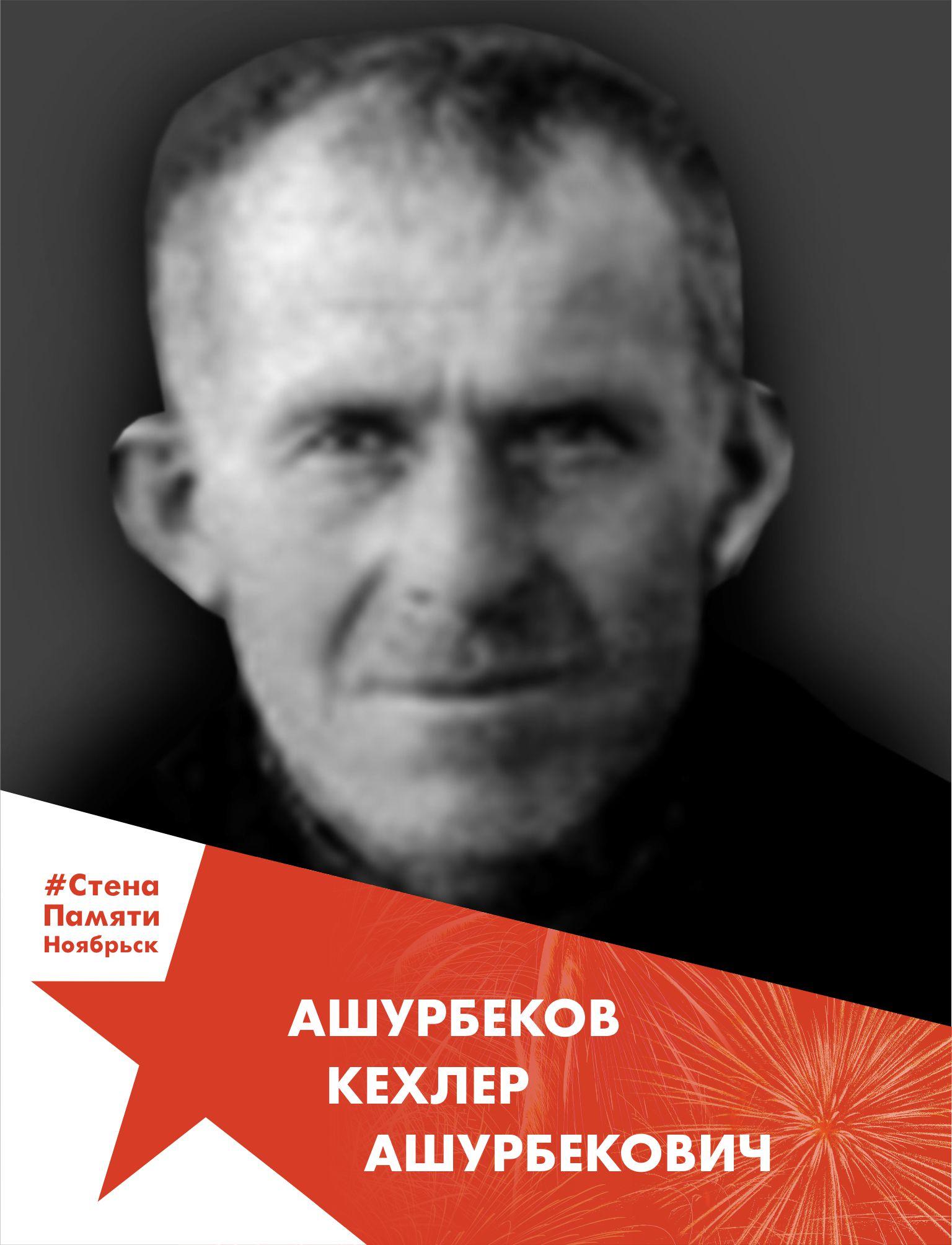 Ашурбеков Кехлер Ашурбекович