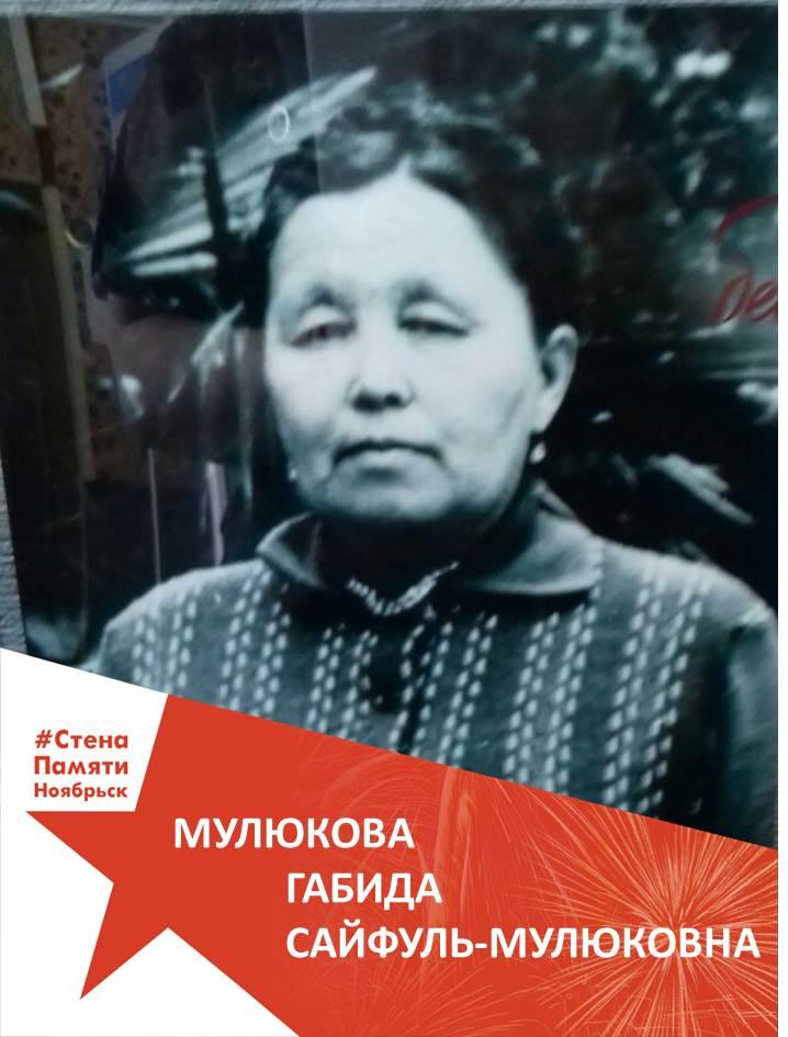 Мулюкова Габида Сайфуль-Мулюковна