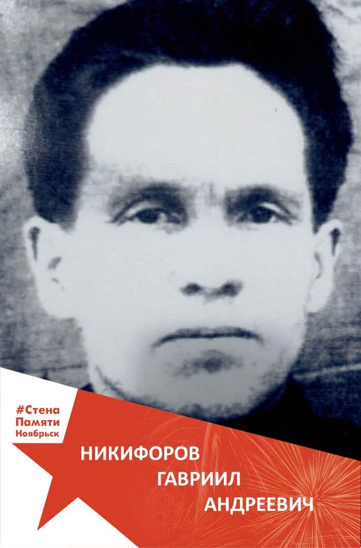 Никифоров Гавриил Андреевич