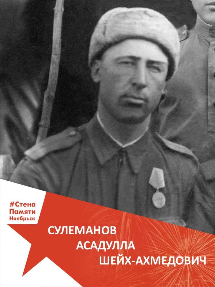 Сулеманов Асадулла Шейх-Ахмедович